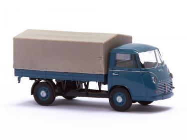 Goliath Express 1100 Pritschenwagen Hellblaugrau mit Plane